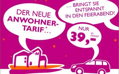 01/04/2016 → Neue Parktarife für Anwohner und Einkaufsbummler