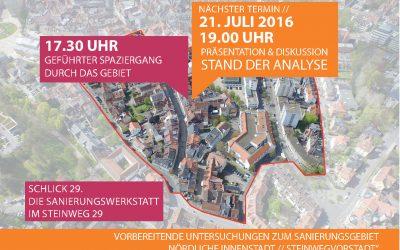 Quartier gestalten und entwickeln:  Bürgerveranstaltung in der Steinwegvorstadt