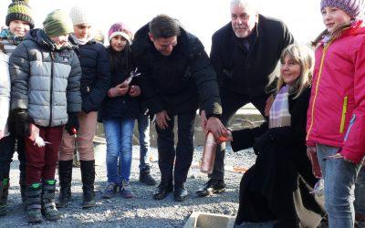 01.03.2018 → Grundsteinlegung für das neue Bürgerhaus in Wüstenahorn