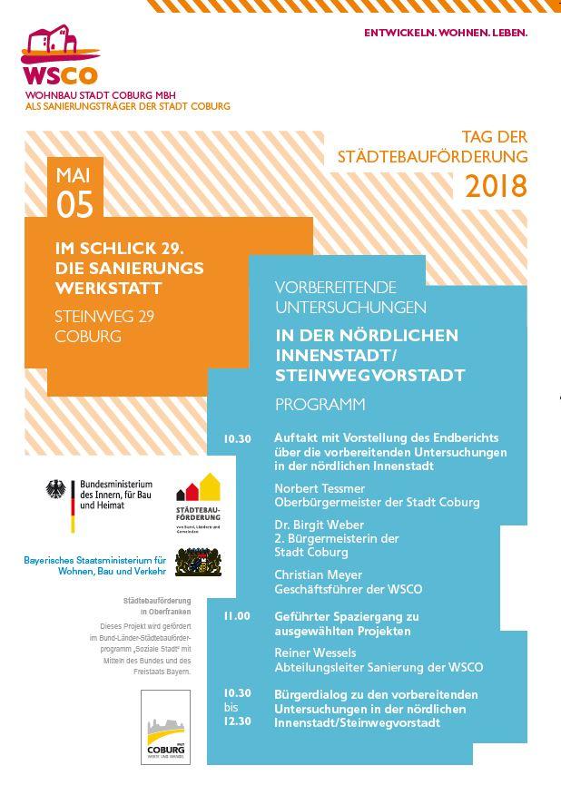 Plakat Tag der Städtebauförderung 2018