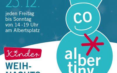 01.-23.12.2018 →  Kinder-Weihnachtsmarkt auf dem Albertsplatz