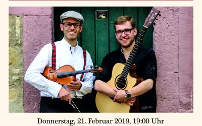 "21.02.2019 → ""Irish Folk & Dine"" im Foyer der WSCO"
