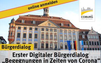 """30.09.2020 → Erster Digitaler Bürgerdialog """"Begegnungen in Zeiten von Corona"""""""