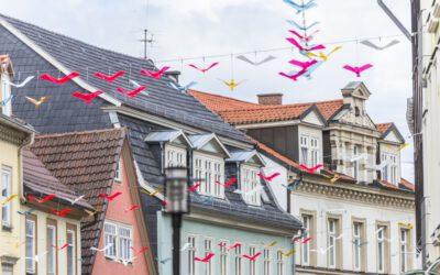 15.03.2021→ Vogelschwarm-Installation zurück im Steinweg