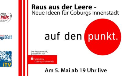 05.05.2021 → Podiumsdiskussion zu Coburgs Innenstadtentwicklung