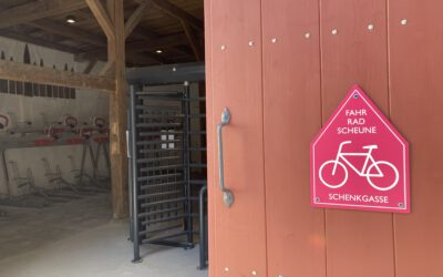 30.07.2021 → Fahrradparkhaus in der Schenkgasse 1 ist eröffnet